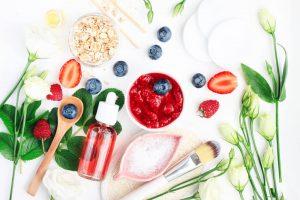 Berries and skin care formulas