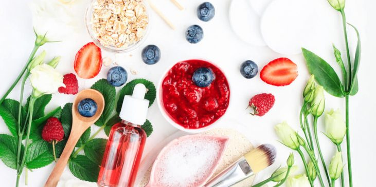 Berries and skin care formulas